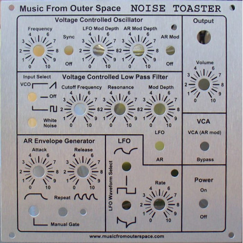 MFOS NOISE TOASTER - Face Plate